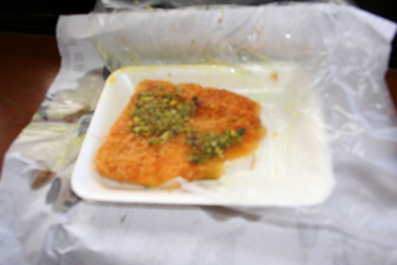 Kanafa from Habiba in Amman. The best we ever had. We ate half of it before remembering we had to take a picture - it was that good!