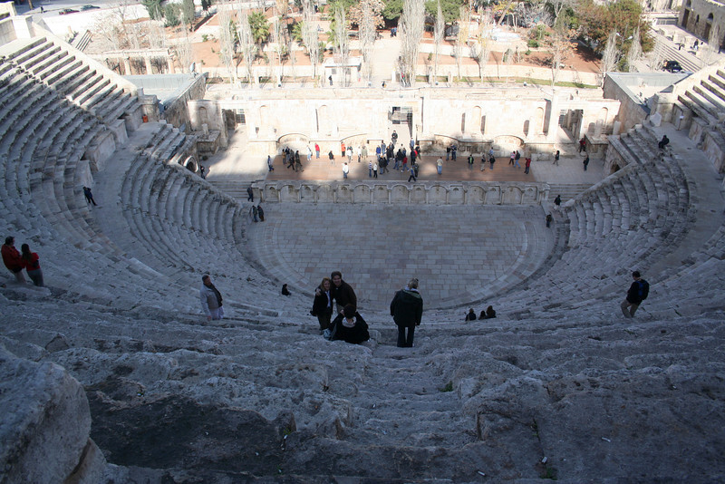At the top and center of the theater: This is the view that the commoners had.