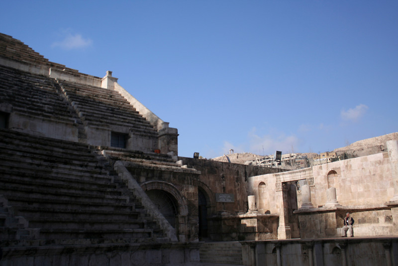 Looking to the right from the entrance to the Roman Theater