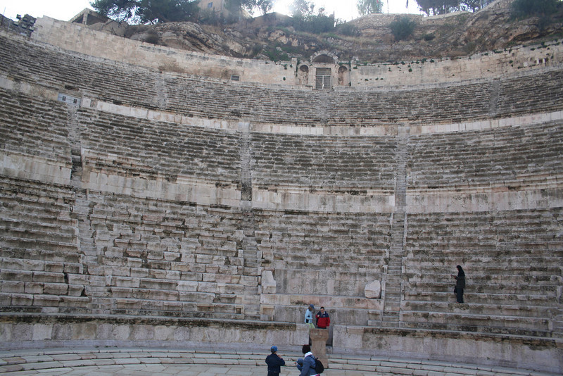 Looking towards the center of the Roman Theatre from the entrance