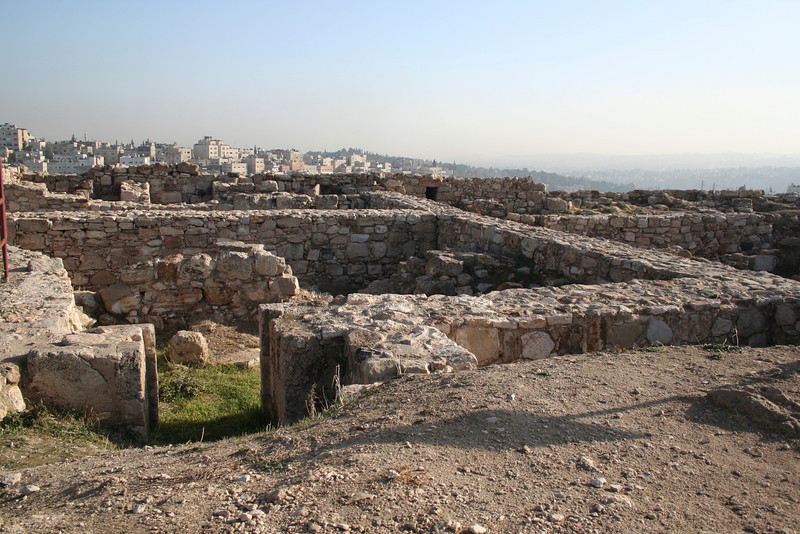 Remains of residences and administrative buildings from the Ummayad period