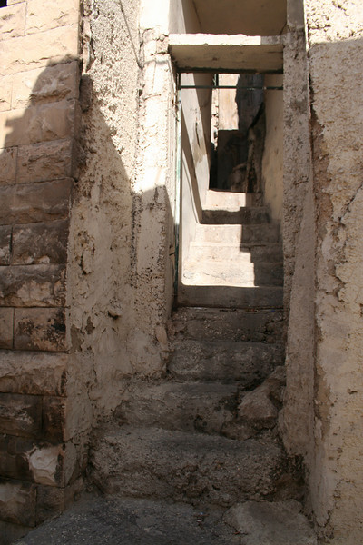 Entrance to a home. These steps look as ancient as the city...