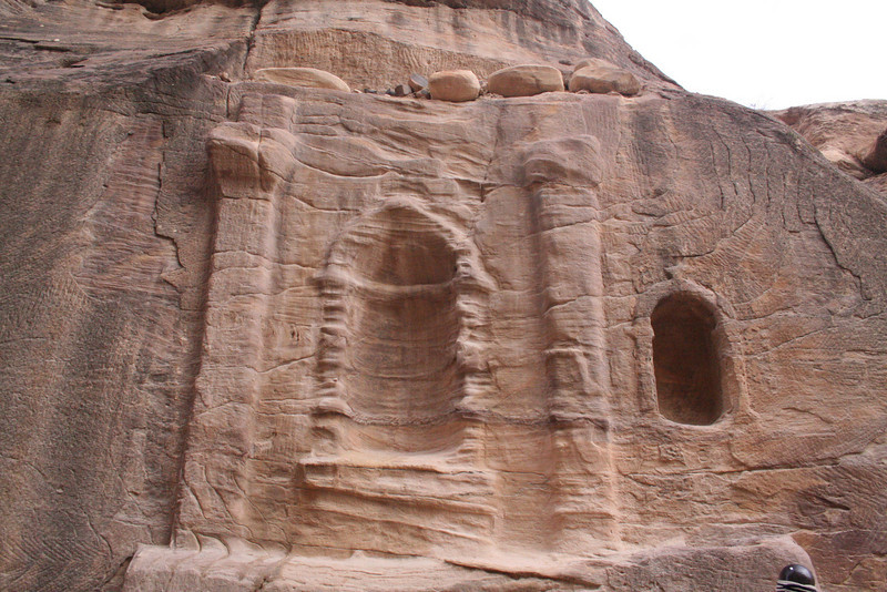 Shrine at the entrance of the Siq dedicated to the Nabaatean god, Dushara
