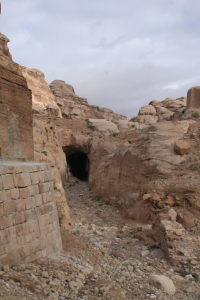 Water dam or canal. This was built by the Nabaateans