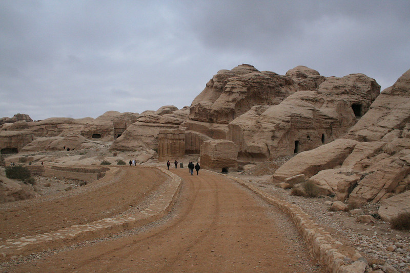 Walking towards the siq: On the right you cam see tombs. The rectangular solid is known as a representation of bad spirits. You leave the bad spirits out before entering the city.