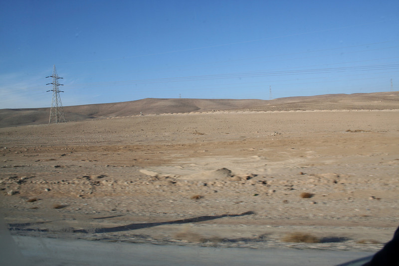 The desert in Jordan - On the way to Petra.