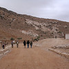 Walking towards the siq, just after the Petra visitors center