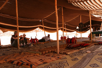 Wadi Rum - The Bedouin camp at Lawrence's Spring (Abu Aineh), which serves extremely sweet Bedouin tea.