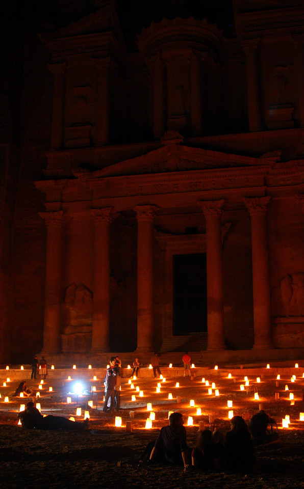 Petra - Petra by Night - The Treasury.
