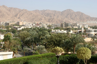 Aqaba - View of the city from my hotel window.