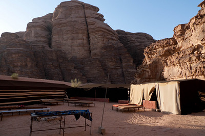 Wadi Rum: Our Traditional Beduin camp bed under the stars