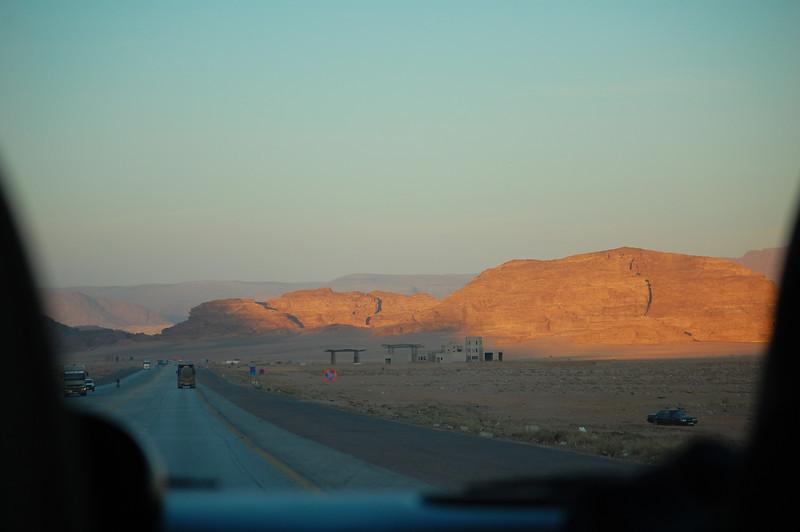 Leaving Wadi Rum