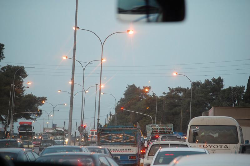 Jordan Traffic towards Amman