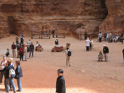 Business bedouin style outside the Treasury at Petra.