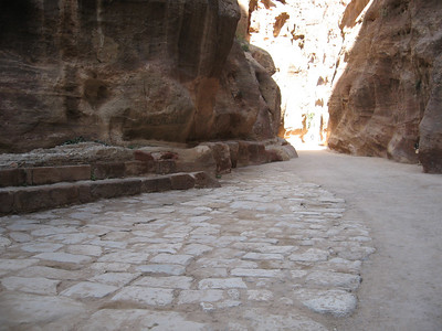 Part of the Roman road in the siq.