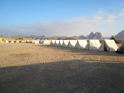 Tents at Beit Ali.