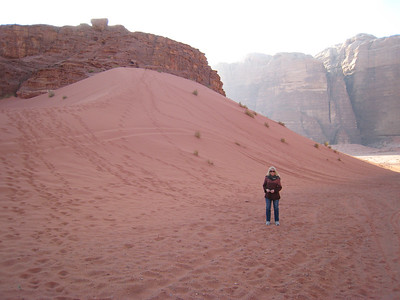 The dunes in Wadi Rum are pink.