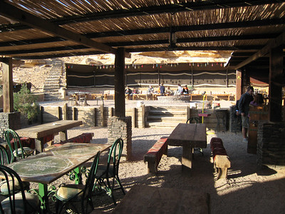 Outside area where we had breakfast at Beit Ali .