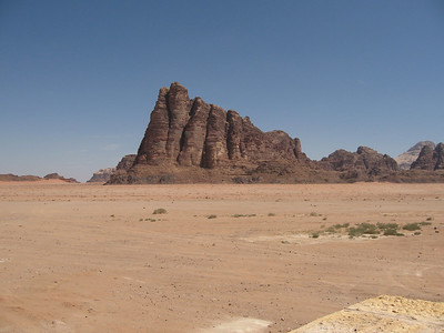 The Seven Pillars of Wisdom from the visitors' centre at Wadi Rum.