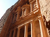 The architectural style of the Petra carved edifices is a mix of Greek, Egyptian and also some ancient Nabatean motives.