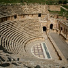 One of two Roman theatres at Jerash.