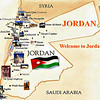 25 miles north of Amman and 25 miles east of the Jordan River.