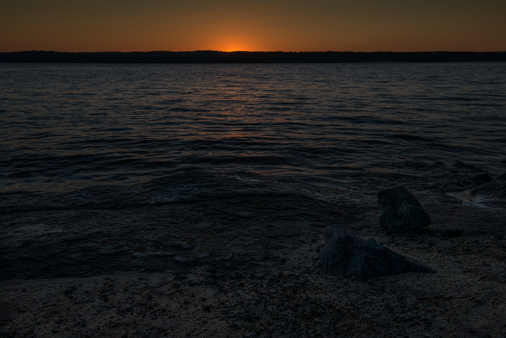 Jordan Lake Sunset