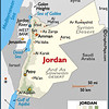 Petra is SW of Amman, between the Gulf of Aqaba and the Dead Sea.