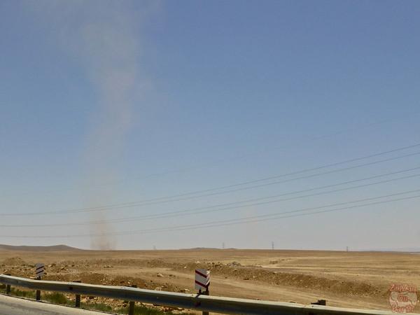 Sand tornado in Jordan