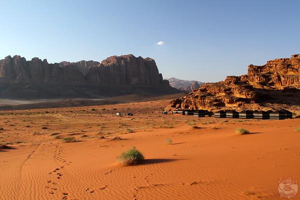 Camp in Wadi Rum Desert, Jordan