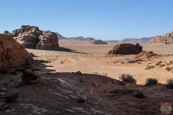 Wadi Rum, Jordan: view from rock bridge