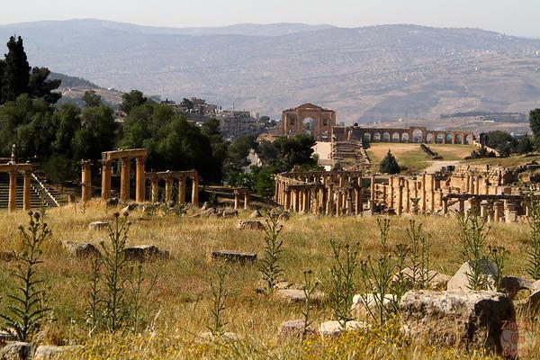 overview, Jerash, Jordan