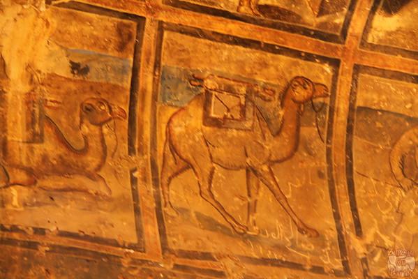 Qasr Amra desert castle painting 2