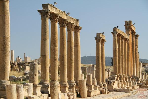 The Cardo ruins, Jerash, Jordan
