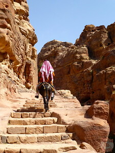 Difficulty of walking around Petra, Jordan