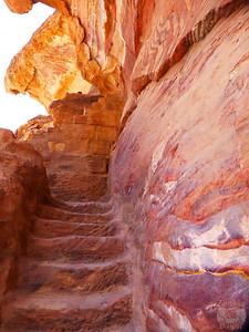 stairs of wadi al-Farasa, Petra
