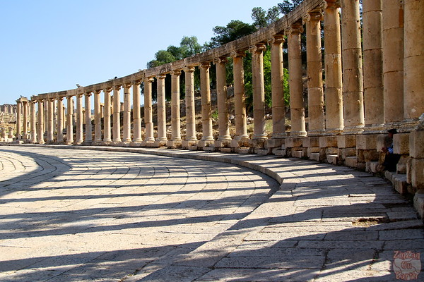 The forum ruins, Jerash, Jordan