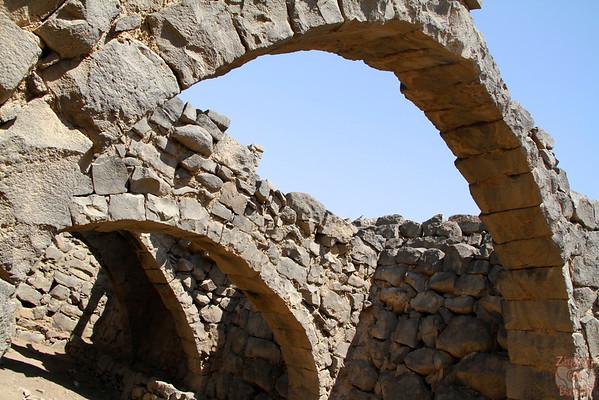 Qasr Azraq desert castle arches