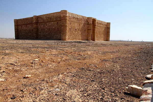 Qasr Kharana desert castle from the side