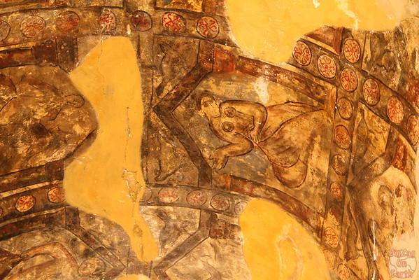 Qasr Amra desert castle painting 1