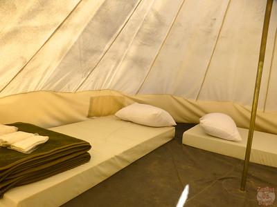 Tent at Rummana campsite, Dana Nature Reserve, Jordan