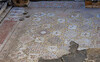 This beautiful mosaic floor was in a temple commemorating two selfless doctors