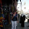 Jay and Hanna enjoy the downtown's bustling souq.