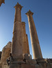 Jerash; columns of the Temple of Artemis