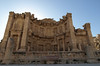 Jerash; the Nymphaeum, a fountain dedicated to water nymphs.  The niches contained statues from which water would have poured out and flowed to the basin in front.  Late 2nd century A.D.