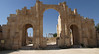 Jerash; Triumphal Arch, built in 129 A.D. for the visit of Roman emperor Hadrian.