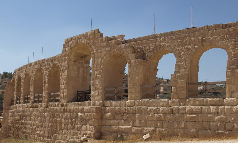Jerash; exterior of the Hippodrome.