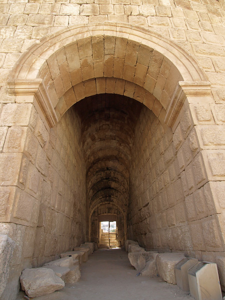Jerash; passage to the Theater