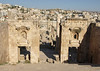 Jerash; the view after having passed through the Propylaeum; midway to the Temple of Artemis compound.