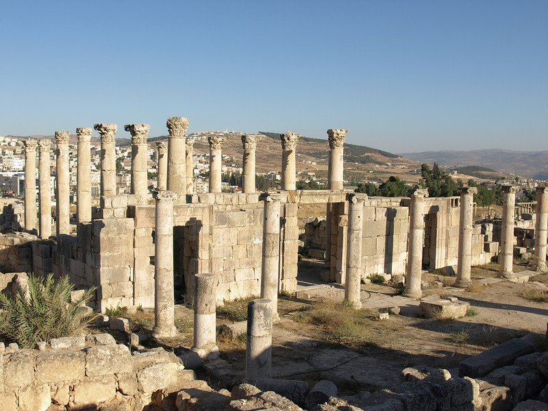 Jerash; remains of Church of St. Theodore (late 5th century A.D.)
